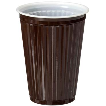 כוסות פלסטיק חומות לקפה