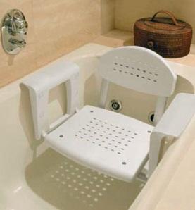 כסא בתליה לתוך אמבט