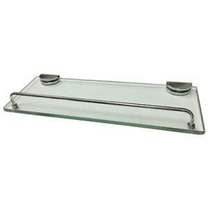 מדף זכוכית עם מעקה