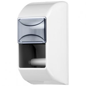 מתקן לנייר טואלט זוגי אנכי – לבן
