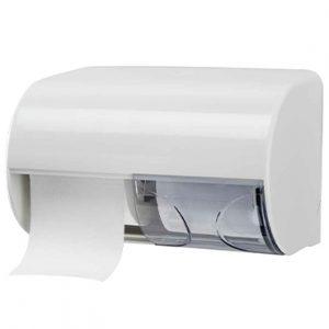 מתקן לנייר טואלט זוגי מאוזן – לבן