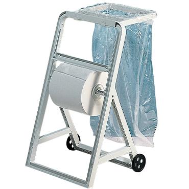 מתקן למגבת נייר תעשייתי עם גלגלים