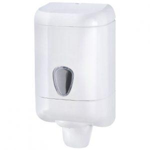מתקן לסבון נוזלי 1 ליטר ידית משיכה – לבן