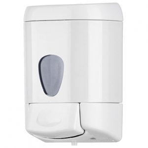 מתקן לסבון נוזלי 1/2 ליטר ידית לחיצה – לבן