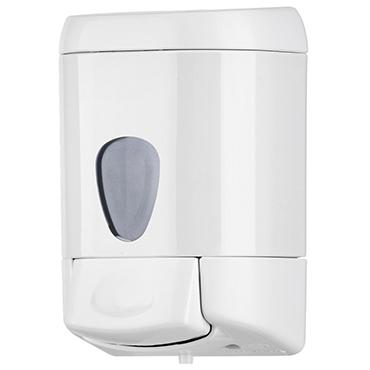 מתקן לסבון נוזלי עם ידית לחיצה לבן