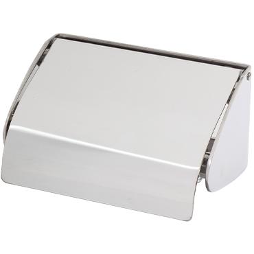 מתקן נייר טואלט עם מכסה נירוסטה