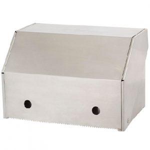 מתקן למגבות נייר בגליל גב וחזית נירוסטה