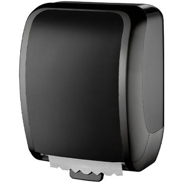 מתקן שחור למגבות נייר לשירותים