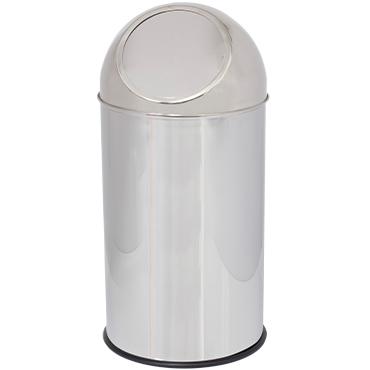 פח אשפה מכסה פוש נירוסטה 35 ליטר
