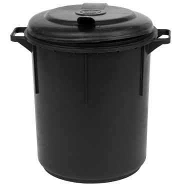 פח אשפה שחור 60 ליטר