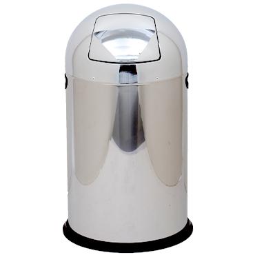 פח בולט מנירוסטה מבריקה 40 ליטר