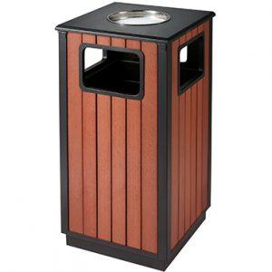 פח מאפרה מרובע ציפוי עץ – EK9494L