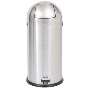 פח פגז עם פדל מנירוסטה מט 52 ליטר