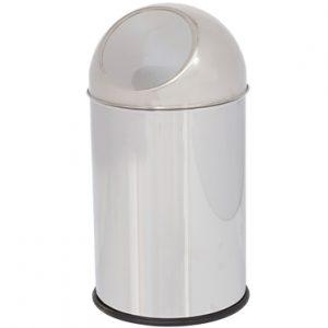 פח PUSH מנירוסטה 18 ליטר