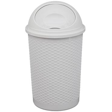 פח פלסטיק ראטן עם מכסה מצחייה