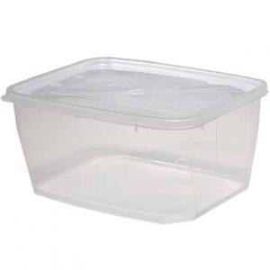"""קופסא מלבנית שקופה 2 ק""""ג"""