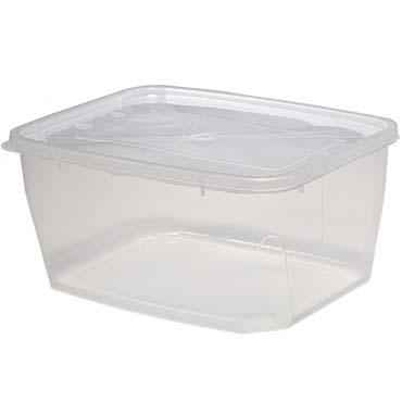 קופסא פלסטיק שקופה 2 ליטר