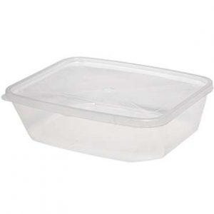 """קופסא מלבנית שקופה 1 ק""""ג"""