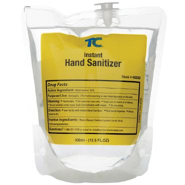 שקית מילוי נוזל אלכוהול לחיטוי הידיים